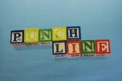 Punchline stock image