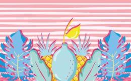 Punchy pastelkleurcitroen vector illustratie