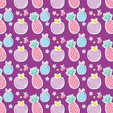Punchy pastels pattern background cartoon. Vector illustration graphic design Stock Images