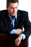 Punctual businessman Stock Images