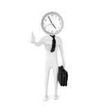 Punctual businessman Royalty Free Stock Image