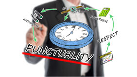 Punctuality concept. With businessman in background stock images