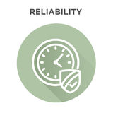 Punctuality or Reliability Image. Punctuality or Reliability Icon with clock and shield Royalty Free Stock Photography
