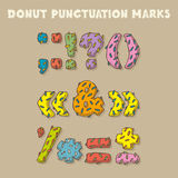 Punctuation Marks in Donut Style. Color Vector Font Stock Photography