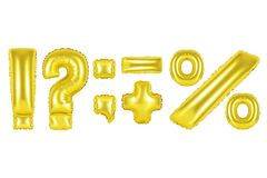 Punctuation marks, gold color Royalty Free Stock Photography