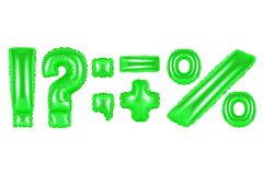 Punctuation marks, green color Stock Photo