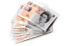 10 pund anmärkningar Royaltyfri Bild