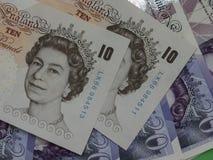 10 & 20 pund anmärkningar Royaltyfria Foton