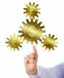 Pund, euro och schweizare Franc Pegged To Dollar Arkivbilder