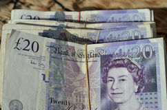 pund för 20 anmärkningar Royaltyfri Fotografi
