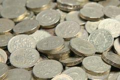 pund för british myntpengar Royaltyfri Bild