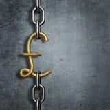 Pund för Chain sammanlänkning Royaltyfria Bilder