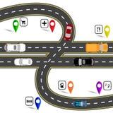 Pund för engelska för tecken för vägföreningspunkt påminnande Väg till navigatören för Britannien vektor illustrationer