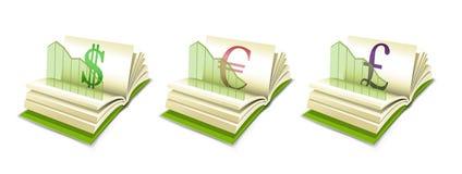pund för euro för valutadiagramdollar stock illustrationer