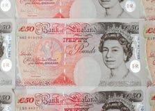pund för femtio anmärkning Royaltyfria Bilder