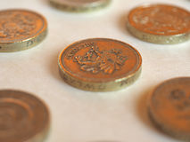 Pund & x28; GBP& x29; mynt, Förenade kungariket & x28; UK& x29; Royaltyfri Foto