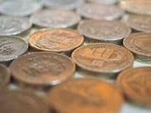 Pund & x28; GBP& x29; mynt, Förenade kungariket & x28; UK& x29; Fotografering för Bildbyråer