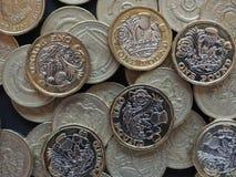 1 pund mynt, Förenade kungariket Royaltyfri Fotografi