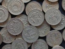 1 pund mynt, Förenade kungariket Royaltyfri Bild