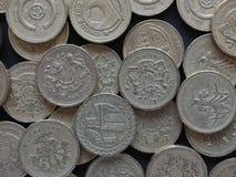1 pund mynt, Förenade kungariket Arkivfoto