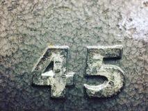 45 pund viktplatta Royaltyfri Foto