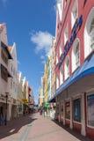 Punda-Ansichten um Curaçao-Karibikinsel Stockfotografie