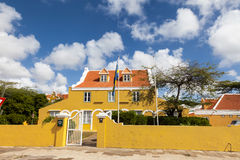 Punda old house. Walking around Willemstad Punda and Otrobanda Curacao Caribbean Royalty Free Stock Images