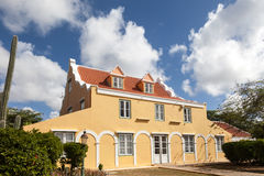 Punda old house. Walking around Willemstad Punda and Otrobanda Curacao Caribbean Royalty Free Stock Photography