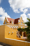 Punda old house. Walking around Willemstad Punda and Otrobanda Curacao Caribbean Stock Image
