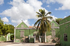 Punda old house. Walking around Willemstad Punda and Otrobanda Curacao Caribbean Royalty Free Stock Photo