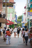 Punda, shopping at Curacao Stock Images