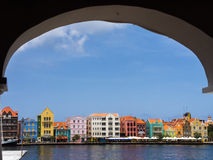 Punda. Views from Otrobanda across the water to Punda waterfront  Curacao Royalty Free Stock Photo