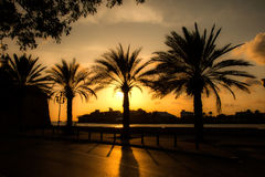 Punda waterfront at sunset Royalty Free Stock Images