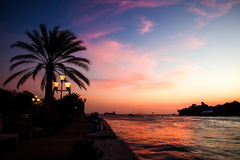 Punda waterfront at sunset Royalty Free Stock Image