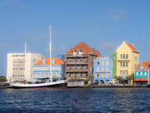 Punda waterfront. Views from Otrobanda across the water to Punda waterfront  Curacao Stock Photo