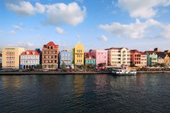 Punda, Willemstad, Curacao. Willemstad, Curacao, Netherlands Antilles - October 15, 2010: Colourful houses and commercial buildings of Punda, Willemstad Harbor Stock Images