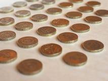 PundGBP mynt, Förenade kungariket UK Royaltyfri Foto