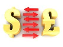 Punds konwertyta Dolary ilustracji