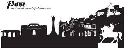 Pune, Índia ilustração royalty free