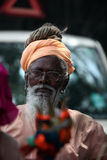 Pune, Inde - July 11, 2015 : Un vieux pèlerin indien Images libres de droits