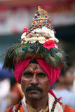 Pune, Inde - 11 juillet 2015 : Un portrait d'un Vasudev, pèlerins W Photographie stock