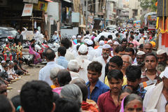 Pune, India - ‎July 11, ‎2015: Thousands of people throng royalty free stock photography