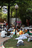 Pune, India - July 11, 2015: Indian Pilgrims called Warkaris res Stock Photo