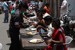 Pune, India - July 11, 2015: Indian pilgrims known as warkaris b Stock Images
