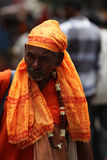 Pune, India  - July 11, 2015: An old Indian pilgrim Royalty Free Stock Images