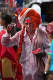 Pune, India  - July 11, 2015: An old Indian pilgrim Stock Photography