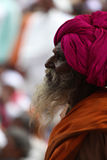 Pune, India - July 11, 2015: A portrait of an old Indian pilgrim Royalty Free Stock Image