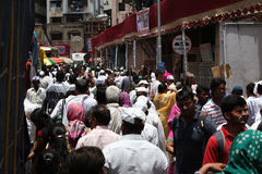 Pune, India  - July 11, 2015: Thousands of people throng t Stock Photography
