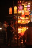 Pune, India - November 2018: Indian people shopping for traditional lanterns for the Diwali festival in India. stock photography