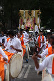 Pune, India - September 17, 2015: Ganesh festival procession bei. Ng traditionally celebrated Dhol Tasha percussion and dancing Royalty Free Stock Image